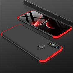 Coque Plastique Mat Protection Integrale 360 Degres Avant et Arriere Etui Housse pour Xiaomi Redmi 7 Rouge et Noir
