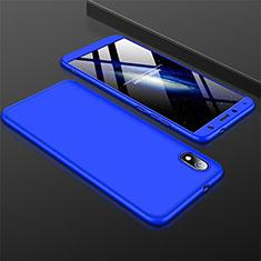Coque Plastique Mat Protection Integrale 360 Degres Avant et Arriere Etui Housse pour Xiaomi Redmi 7A Bleu