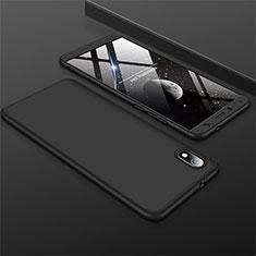 Coque Plastique Mat Protection Integrale 360 Degres Avant et Arriere Etui Housse pour Xiaomi Redmi 7A Noir