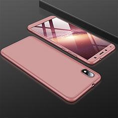 Coque Plastique Mat Protection Integrale 360 Degres Avant et Arriere Etui Housse pour Xiaomi Redmi 7A Or Rose