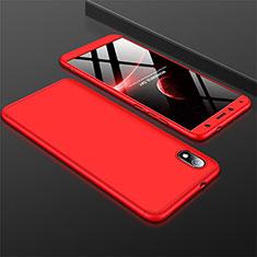 Coque Plastique Mat Protection Integrale 360 Degres Avant et Arriere Etui Housse pour Xiaomi Redmi 7A Rouge
