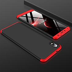 Coque Plastique Mat Protection Integrale 360 Degres Avant et Arriere Etui Housse pour Xiaomi Redmi 7A Rouge et Noir