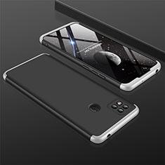 Coque Plastique Mat Protection Integrale 360 Degres Avant et Arriere Etui Housse pour Xiaomi Redmi 9C Argent et Noir