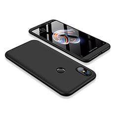 Coque Plastique Mat Protection Integrale 360 Degres Avant et Arriere Etui Housse pour Xiaomi Redmi Note 5 Noir
