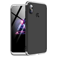 Coque Plastique Mat Protection Integrale 360 Degres Avant et Arriere Etui Housse pour Xiaomi Redmi Note 6 Pro Argent