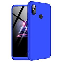 Coque Plastique Mat Protection Integrale 360 Degres Avant et Arriere Etui Housse pour Xiaomi Redmi Note 6 Pro Bleu