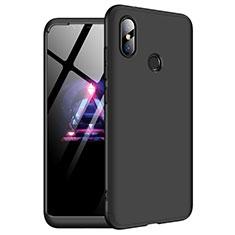 Coque Plastique Mat Protection Integrale 360 Degres Avant et Arriere Etui Housse pour Xiaomi Redmi Note 6 Pro Noir