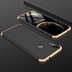 Coque Plastique Mat Protection Integrale 360 Degres Avant et Arriere Etui Housse pour Xiaomi Redmi Note 7 Pro Or et Noir