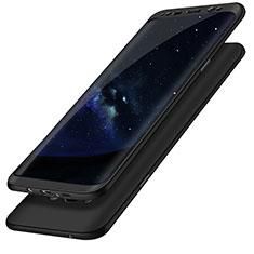 Coque Plastique Mat Protection Integrale 360 Degres Avant et Arriere Etui Housse Q02 pour Samsung Galaxy S8 Plus Noir