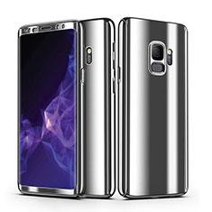 Coque Plastique Mat Protection Integrale 360 Degres Avant et Arriere Housse Etui pour Samsung Galaxy S9 Argent