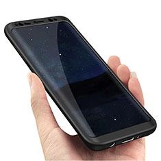 Coque Plastique Mat Protection Integrale 360 Degres Avant et Arriere M02 pour Samsung Galaxy S8 Noir