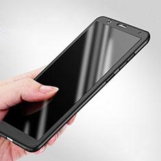 Coque Plastique Mat Protection Integrale 360 Degres Avant et Arriere pour Huawei Honor 7X Noir