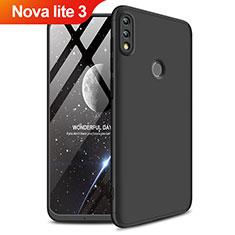 Coque Plastique Mat Protection Integrale 360 Degres Avant et Arriere pour Huawei Nova Lite 3 Noir