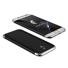Coque Plastique Mat Protection Integrale 360 Degres Avant et Arriere pour Samsung Galaxy J7 Pro Argent