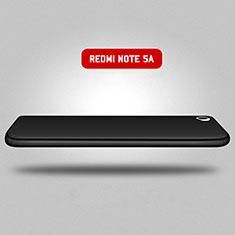 Coque Plastique Mat Protection Integrale 360 Degres Avant et Arriere pour Xiaomi Redmi Note 5A Standard Edition Noir