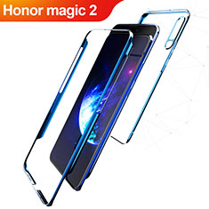 Coque Plastique Mat Protection Integrale 360 Degres Avant et Arriere Q01 pour Huawei Honor Magic 2 Bleu