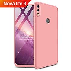 Coque Plastique Mat Protection Integrale 360 Degres Avant et Arriere Q01 pour Huawei Nova Lite 3 Or Rose