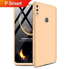 Coque Plastique Mat Protection Integrale 360 Degres Avant et Arriere Q01 pour Huawei P Smart (2019) Or