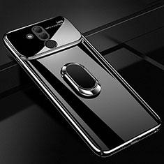 Coque Plastique Protection Integrale 360 Degres Miroir Etui Housse avec Support Bague Anneau Aimante Magnetique pour Huawei Mate 20 Lite Noir