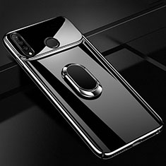 Coque Plastique Protection Integrale 360 Degres Miroir Etui Housse avec Support Bague Anneau Aimante Magnetique pour Huawei P30 Lite Noir