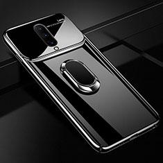 Coque Plastique Protection Integrale 360 Degres Miroir Etui Housse avec Support Bague Anneau Aimante Magnetique pour OnePlus 7 Pro Noir