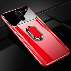 Coque Plastique Protection Integrale 360 Degres Miroir Etui Housse avec Support Bague Anneau Aimante Magnetique pour OnePlus 7 Pro Rouge