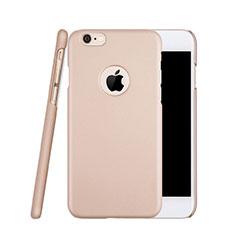Coque Plastique Rigide avec Trou Mat pour Apple iPhone 6S Or Rose