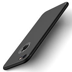 Coque Plastique Rigide avec Trou Mat pour Apple iPhone 7 Noir