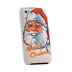 Coque Plastique Rigide Christmas pour Apple iPhone 3G 3GS Rouge