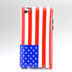 Coque Plastique Rigide Drapeau USA pour Apple iPod Touch 4 Colorful