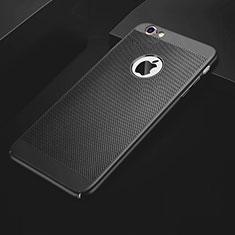 Coque Plastique Rigide Etui Housse Mailles Filet pour Apple iPhone 6S Plus Noir