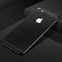 Coque Plastique Rigide Etui Housse Mailles Filet pour Apple iPhone SE (2020) Noir