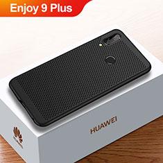 Coque Plastique Rigide Etui Housse Mailles Filet pour Huawei Enjoy 9 Plus Noir