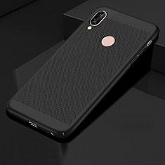 Coque Plastique Rigide Etui Housse Mailles Filet pour Huawei Honor 10 Lite Noir