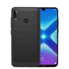 Coque Plastique Rigide Etui Housse Mailles Filet pour Huawei Honor 8X Noir