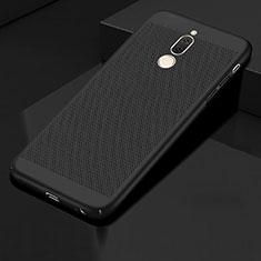 Coque Plastique Rigide Etui Housse Mailles Filet pour Huawei Mate 10 Lite Noir
