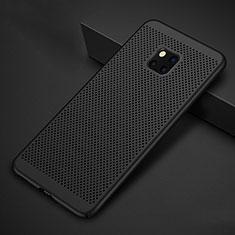Coque Plastique Rigide Etui Housse Mailles Filet pour Huawei Mate 20 Pro Noir