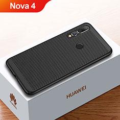 Coque Plastique Rigide Etui Housse Mailles Filet pour Huawei Nova 4 Noir