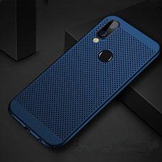 Coque Plastique Rigide Etui Housse Mailles Filet pour Huawei P Smart+ Plus Bleu