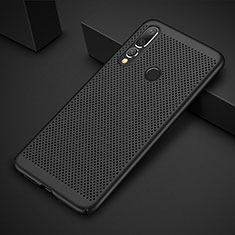 Coque Plastique Rigide Etui Housse Mailles Filet pour Huawei P30 Lite Noir