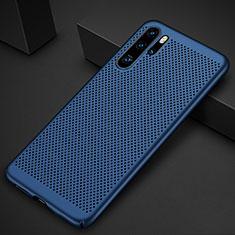 Coque Plastique Rigide Etui Housse Mailles Filet pour Huawei P30 Pro Bleu
