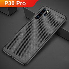 Coque Plastique Rigide Etui Housse Mailles Filet pour Huawei P30 Pro Noir