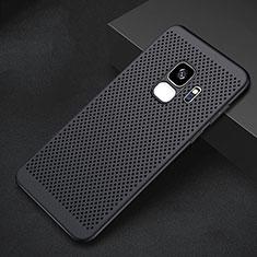 Coque Plastique Rigide Etui Housse Mailles Filet pour Samsung Galaxy S9 Noir