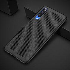 Coque Plastique Rigide Etui Housse Mailles Filet pour Xiaomi Mi 9 Noir