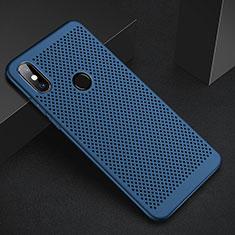 Coque Plastique Rigide Etui Housse Mailles Filet pour Xiaomi Mi A2 Bleu