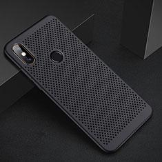 Coque Plastique Rigide Etui Housse Mailles Filet pour Xiaomi Redmi 6 Pro Noir