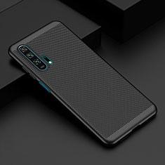Coque Plastique Rigide Etui Housse Mailles Filet W02 pour Huawei Honor 20 Pro Noir