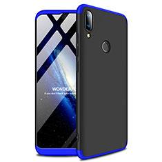 Coque Plastique Rigide Etui Housse Mat A01 pour Huawei Enjoy 9 Plus Bleu et Noir