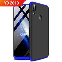 Coque Plastique Rigide Etui Housse Mat A01 pour Huawei Y9 (2019) Bleu et Noir
