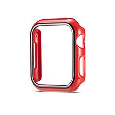 Coque Plastique Rigide Etui Housse Mat M01 pour Apple iWatch 5 44mm Rouge